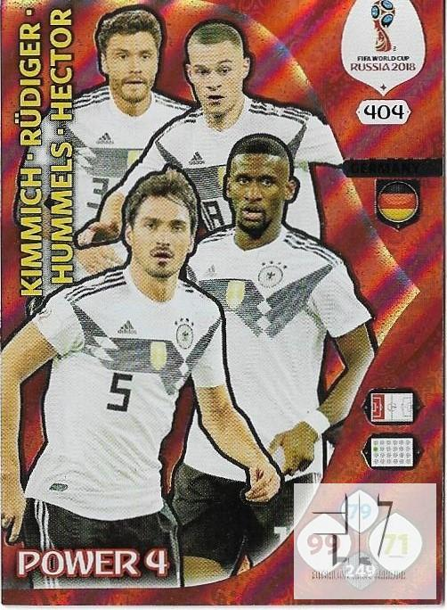 W.C.18 Power 4 - Kimmich / Rudiger / Hummels / Hector