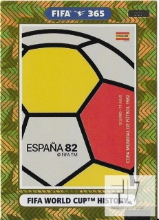F.21 FIFA WORLD CUP HISTORY - Spain 1982