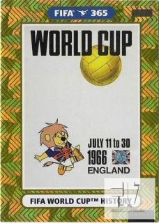 F.21 FIFA WORLD CUP HISTORY - England 1966