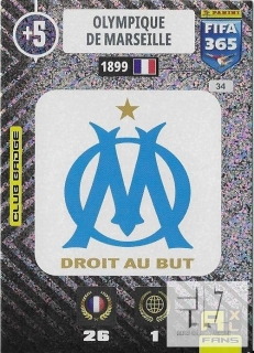 F.21 Club Badge - Olympique Marseille