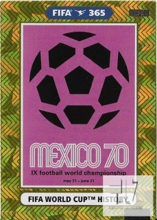 F.21 FIFA WORLD CUP HISTORY - Mexico 1970