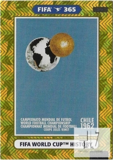 F.21 FIFA WORLD CUP HISTORY - Chile 1962
